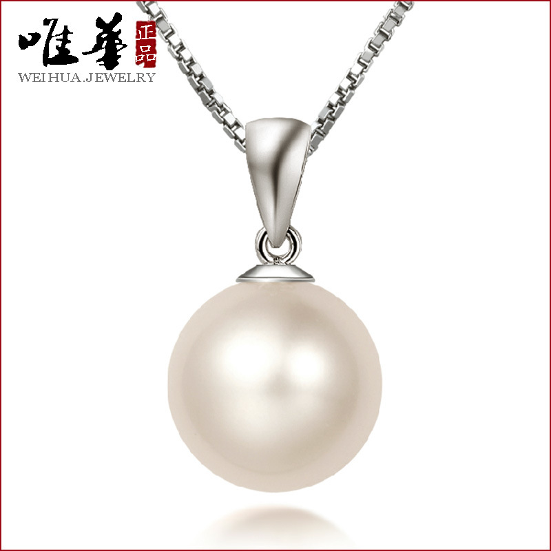 Jewelry manufacturers wholesale Korean folk style retro natural pearls pearl necklace Sterling Silver Pendant female S925(China (Mainland))