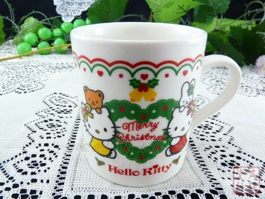 Ceramic hello kitty Medium christmas edition mug  8CMx9CM 240ML