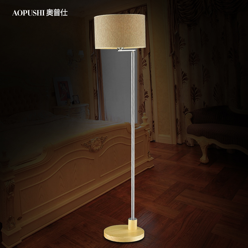 Russian Imports Of Pine Wood Cloth Cover Led Floor Lamp