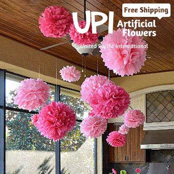 Multicolor 16Inch Paper Wedding Flower Ball Pom Poms Decora Home Decor Party - Union Pacific International Trading Ltd. store