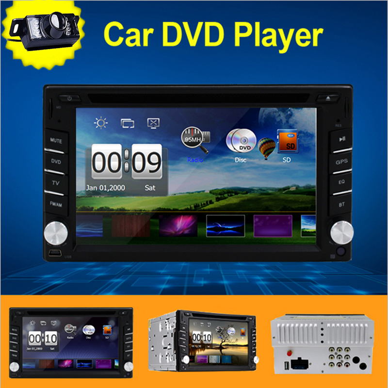 New universal Double 2 din Car Radio GPS Navigation Bluetooth Car DVD Player Car in dash Stereo video+Free Camera+Free Map(China (Mainland))
