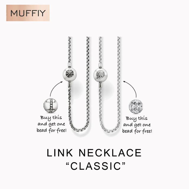Черныйend и серебро карма бусины ожерелье, Томас стиль карма бусины, Хорошее украшения ...
