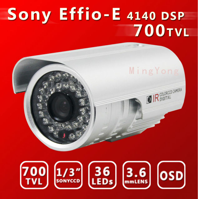 """1/3""""Sony CCD&  Effio-E DSP+673CCD 700TVL 36Leds  30m IR distance Color Day/Night Indoor/Outdoor security CCD CCTV Camera"""