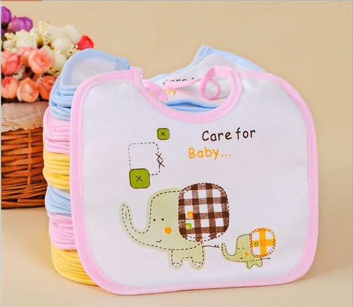 Elephant Style Baby Bibs Cotton Saliva Towel Waterproof Infant ll001 - Lucky Shop store