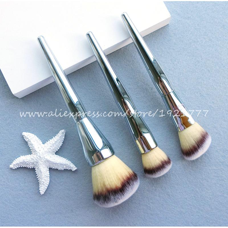 Brand New Contour Blusher Kabuki kit Professional Makeup Brushes Ulta it all over 211 Flawless Blush Powder Brush Silver Color(China (Mainland))