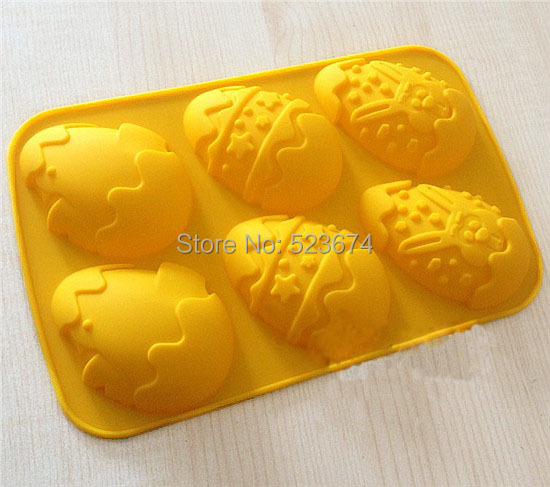 FDA 2014 Hot selling Easter Eggs silicone Mold cake chocolate mold tray tools - Eileen Chou's store