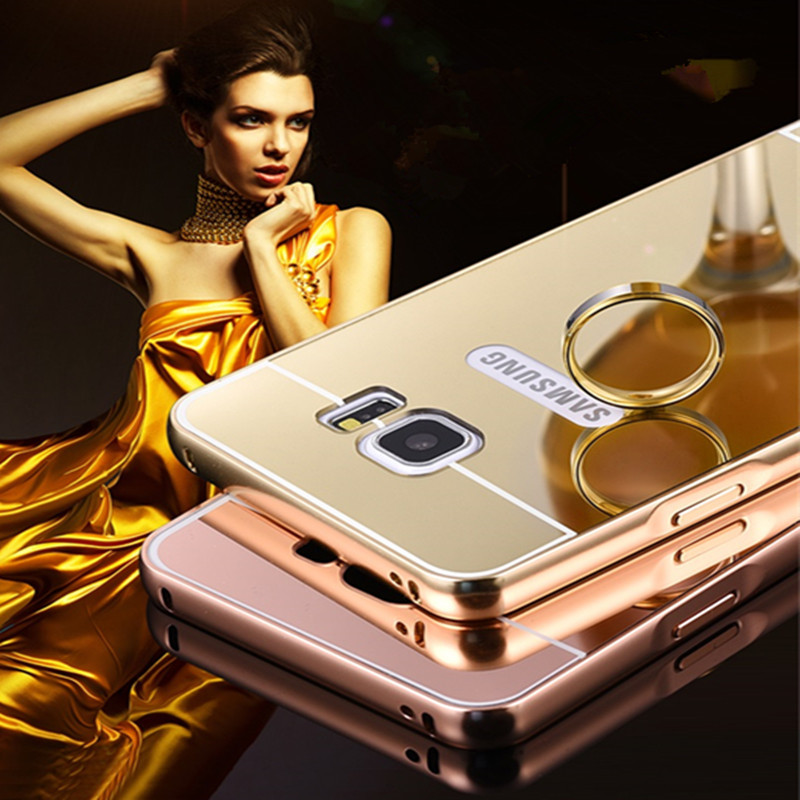 Mirror Metal Aluminum + hard pc Phone Case For Samsung Galaxy S3 S4 S5 Case Luxury Cover for mobil phone cases cool coque shell(China (Mainland))