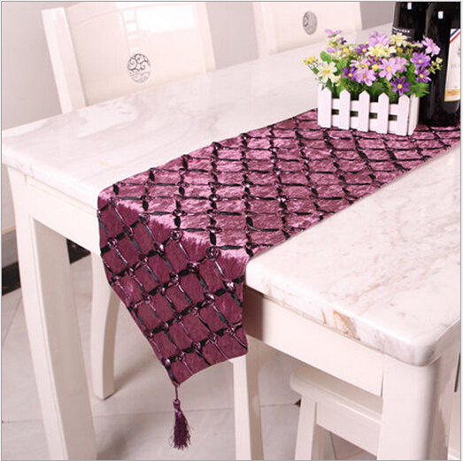 plaid shape chinese style wedding decoration modern table runner cotton chemin de table for. Black Bedroom Furniture Sets. Home Design Ideas