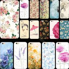 Super Advanced Painted Flower Silicon Cover Case For Apple iPhone 5 iPhone 5S iPhone5S Cases Phone Shell TUQ JGA QTE WOED