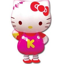 10PCS High Quality Cartoon Hello Kitty Foil Balloons KT Cat Walking Pet Balloon Party Decorations Inflatables Toys Free Shipping(China (Mainland))