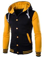 Autumn and winter New even the cap baseball 8 color men's Slim Velour Hoodie(China (Mainland))