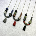 New Fashion Long Woman Necklace Cute Tassel Geometric Wood Beads Pendant Sweater Necklace Clothes Accessories