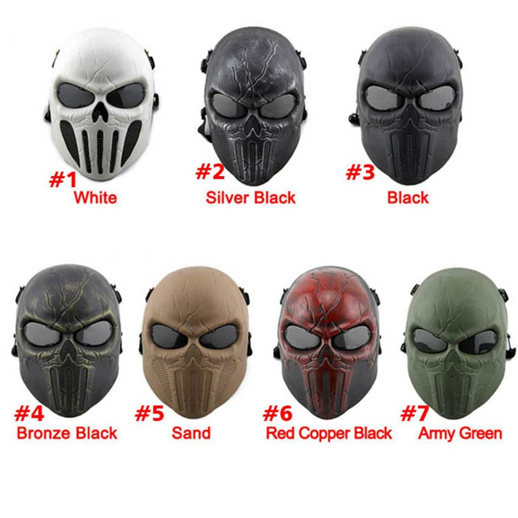 CS Airsoft Paintball Chastener Ear-protective Mask Full Face Mask Halloween Wargame Field game Cosplay Movie Prop Mask Sporting