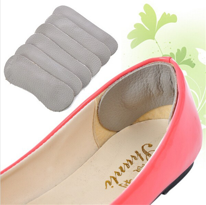 100 Pairs/lot Women Cowhide Leather Rearfoot Stickers insole High Heel Cushion Pad Protector Liner Anti-foaming foot wear - Happy Go 007 store