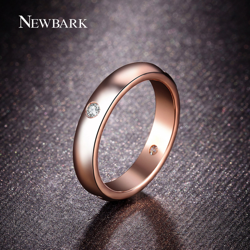 Aliexpress.com : Buy NEWBARK Rose Gold Plated Unisex Ring ...