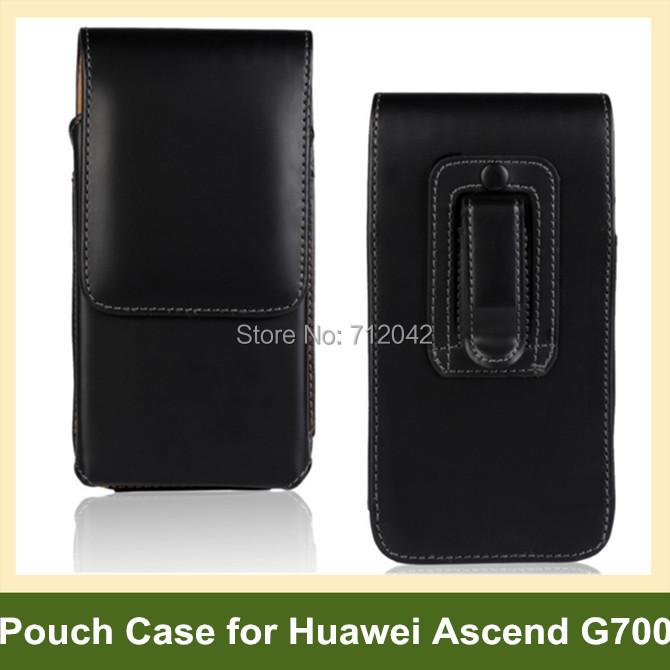 Fashion Belt Clip PU Leather Flip Pouch Case for Huawei Ascend G700 U8950 10pcs/lot Free Shipping