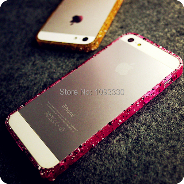 2016 Hot Colorful Bumper Case Apple iPhone 5S 5 5g Candy Raindrop Luxury Plastic Frame Protective Shell Cover Phone - Little River Mobile Accessories store