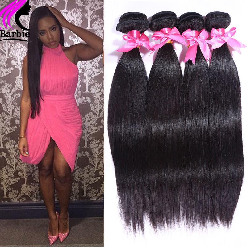 Brazilian Virgin Hair Straight 4 Bundles Straight Brazilian Hair 100g/pc Human Hair Extensions Bele 100% Unprocessed Virgin Hair