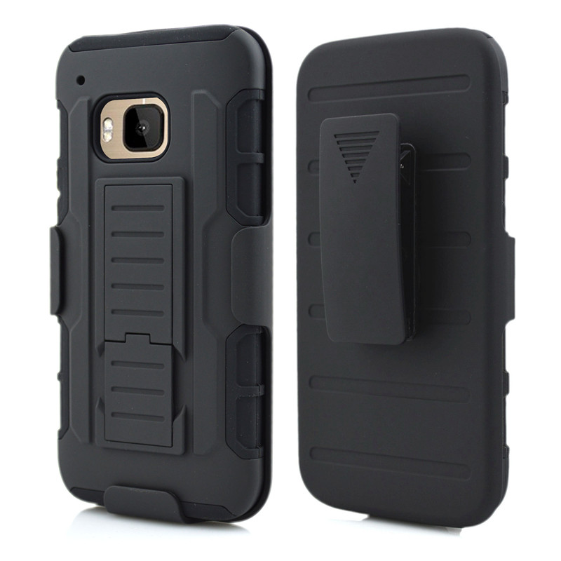 Duty Armor Case For HTC M9 Case Stand Belt Clip Hybrid Outdoor Black Cover For HTC One M9 M 9 Shockproof Hard Case(China (Mainland))