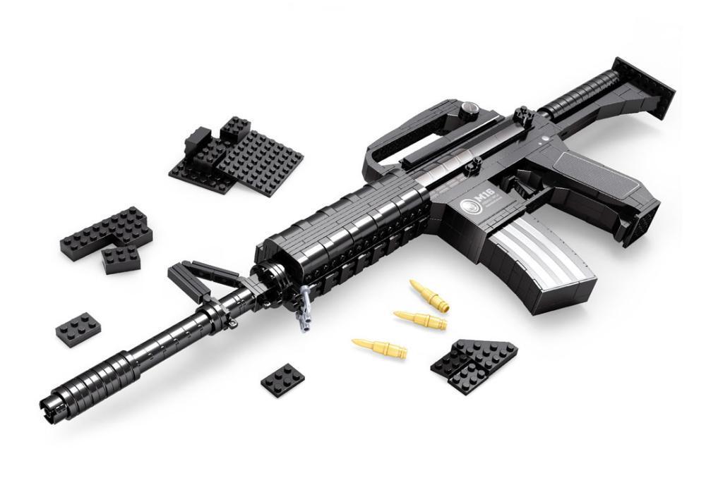M16 Assault rifle GUN Weapon Arms Model 3D 52Model Brick Gun Building Block Set Toy Gift Children - Lucas store
