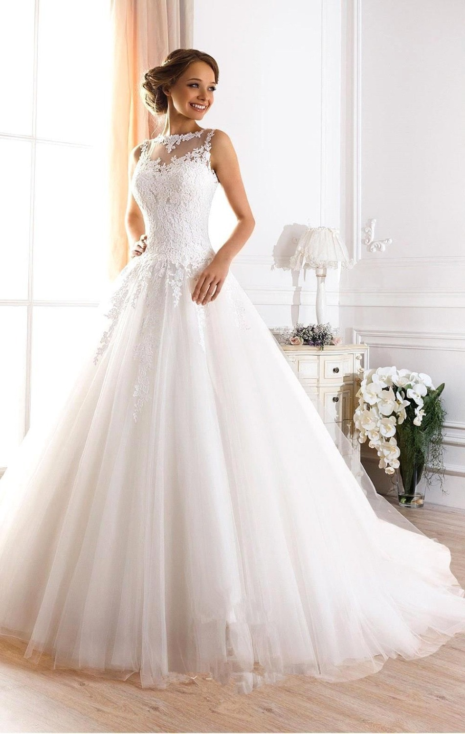 Buy vestidos de novia 2016 cheap white for When to buy wedding dress