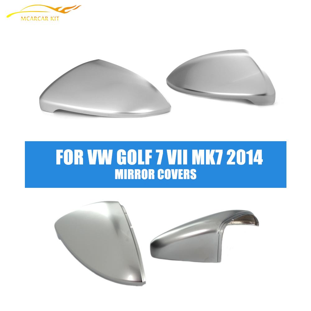 Matt Chrome Rearview Side Mirror Covers Caps Trim Fit VW Golf 7 VII MK7 2014 - MCARCAR KIT Store store