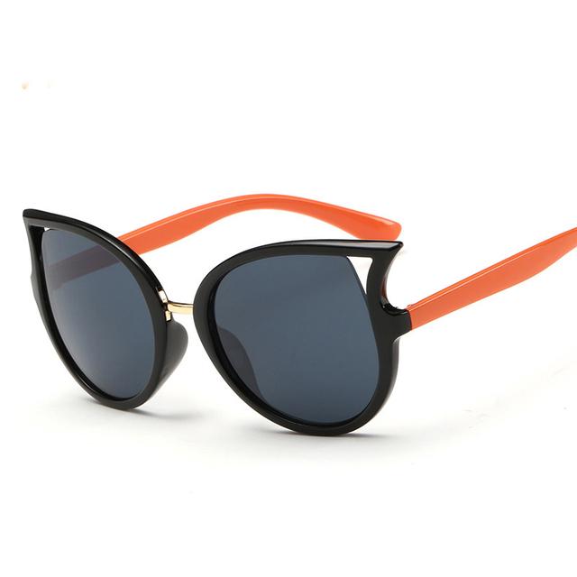 Ребенок cat eye солнцезащитные очки малыш gafa óculos lentes gafas де золь feminino люнет soleil Девочки Девушка Мальчик Мальчики бренд дизайнер очки