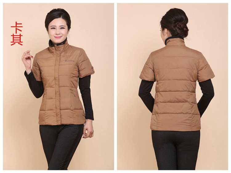 2016 New Autumn Winter Fashion Waistcoat Women Short Sleeve Vests Coat Slim Plus Size Waistcoat Jacket cotton Outwear DX309