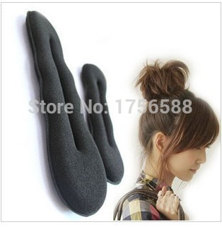 New listing sponge hair band clip bun maker former foam twist hair salon tool! Hair diy free shipping(China (Mainland))