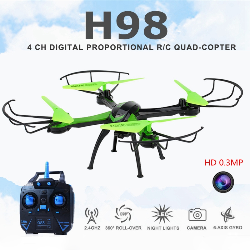 JJRC H98 New 2.4Ghz 6CH 6-Axis Gyro RC Quadcopter with Camera RC Drone with 0.3MP Camera 3D Flip Auto-Return CF Mode Toy Drone(China (Mainland))