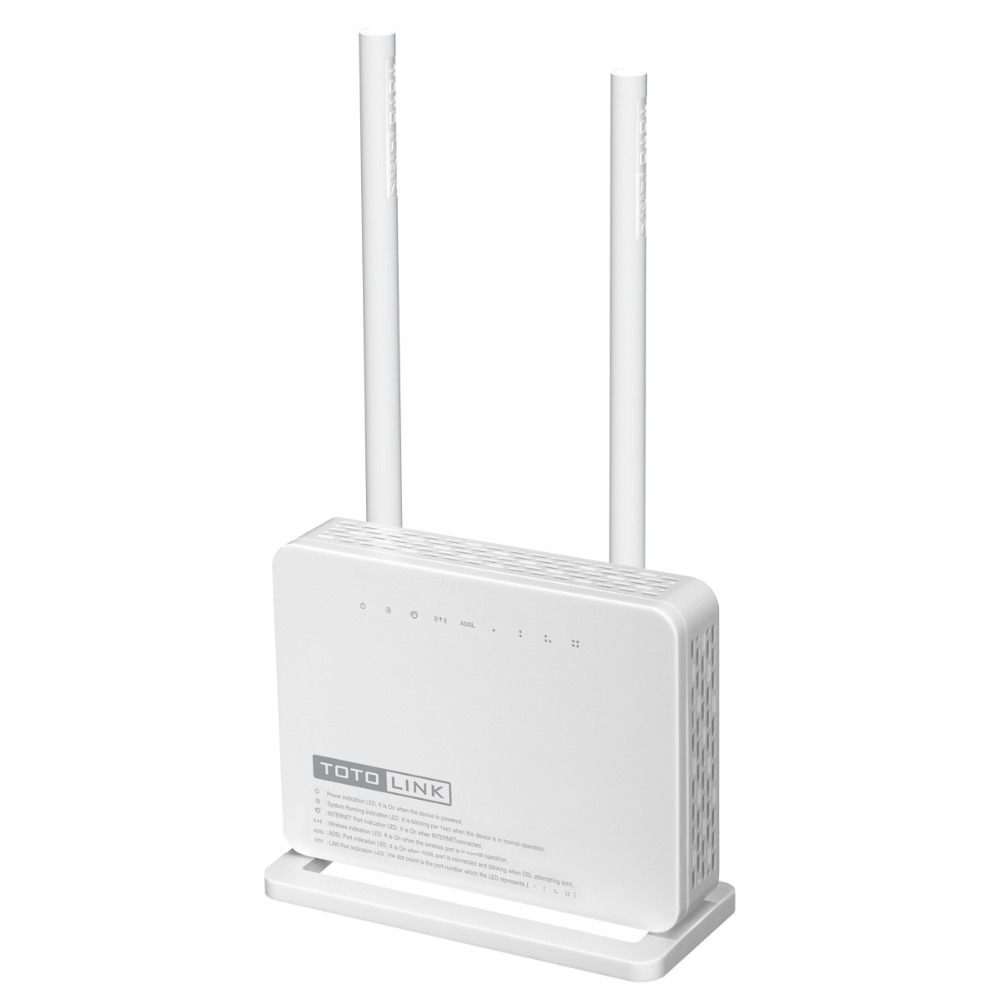 TOTOLINK ND300 Multi-functional Wireless N 300Mbps ADSL 2+ Modem WiFi Router&with 2 x 5dBi High Gain Antenna- Portuguese version(China (Mainland))