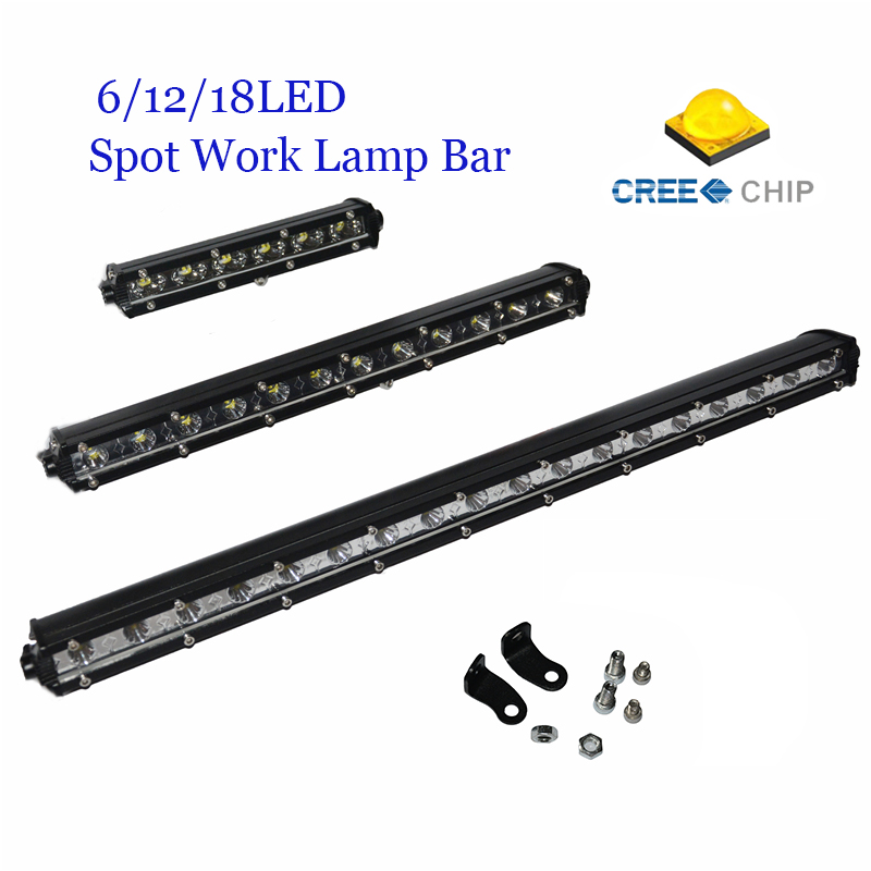 High Power 18/ 36/ 54W CREE Chips Spot LED Head Light Bar For Truck Trailer Offroad Driving Work Lamp For ATV TV Car 4WD Jeep(China (Mainland))