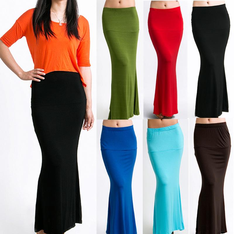 2014 Fashion Women Trumpet Mermaid Summer Vintage Elastic Work Party Cocktail Slim Pencil Long Skirt XS, XL - Joan and Davie store