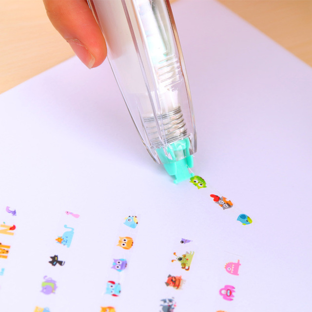 Cartoon Animals Adhesive Sticker Tape