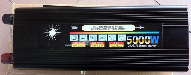 Hot! Peak 10000w 12V 220V Power Inverter 5000W UPS Power inversor With Battery Charge