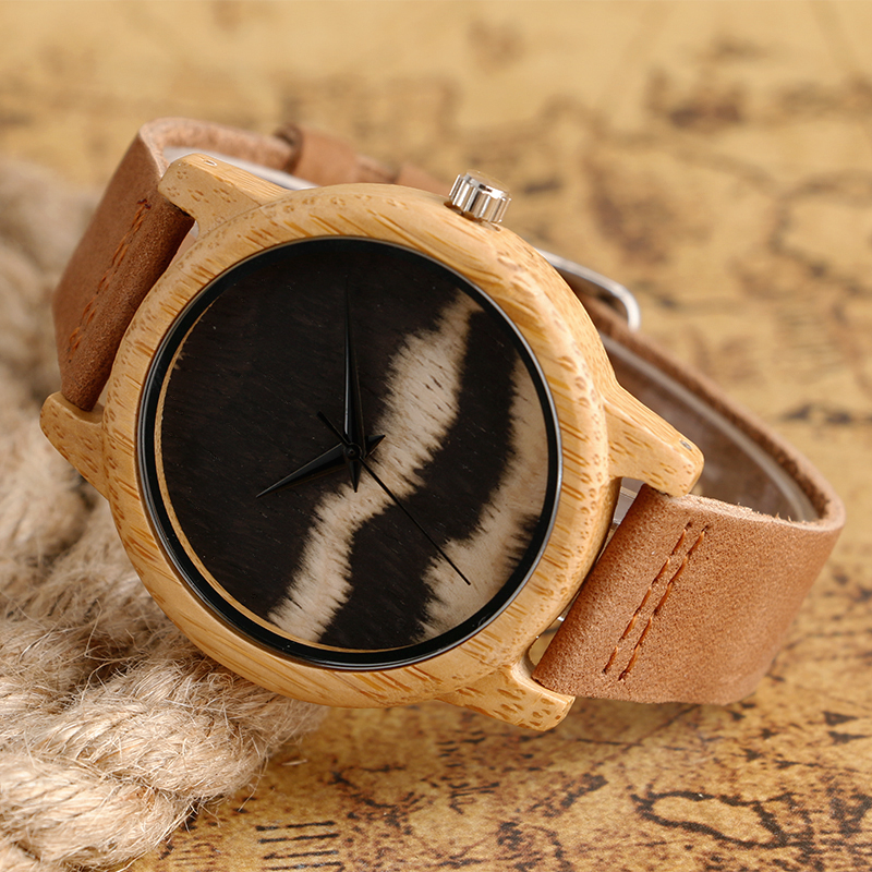 Creative Natural Wooden Watches Simple Casual Bamboo Original Wood Quartz-watches Men Women Top Gift Wristwatch Online(China (Mainland))