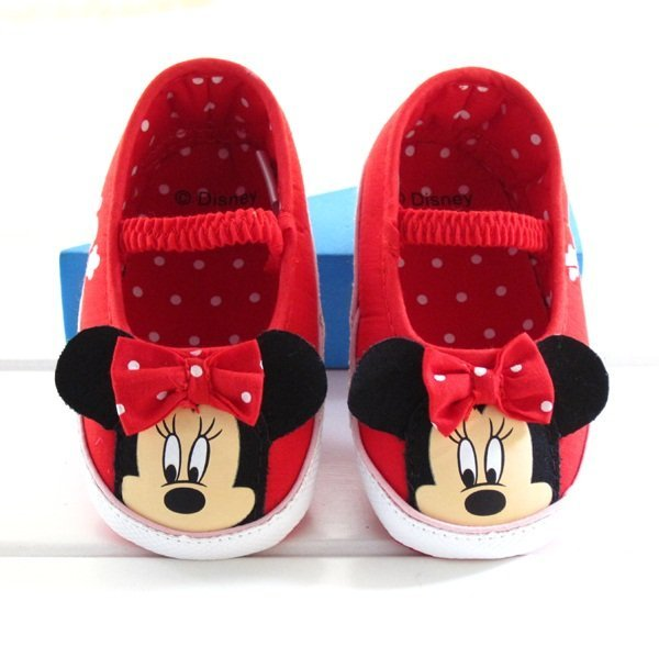 New fashion baby girls cartoon minnie antiskid shoes infant footwear suitable for prewalkers first walkers high quality 4941