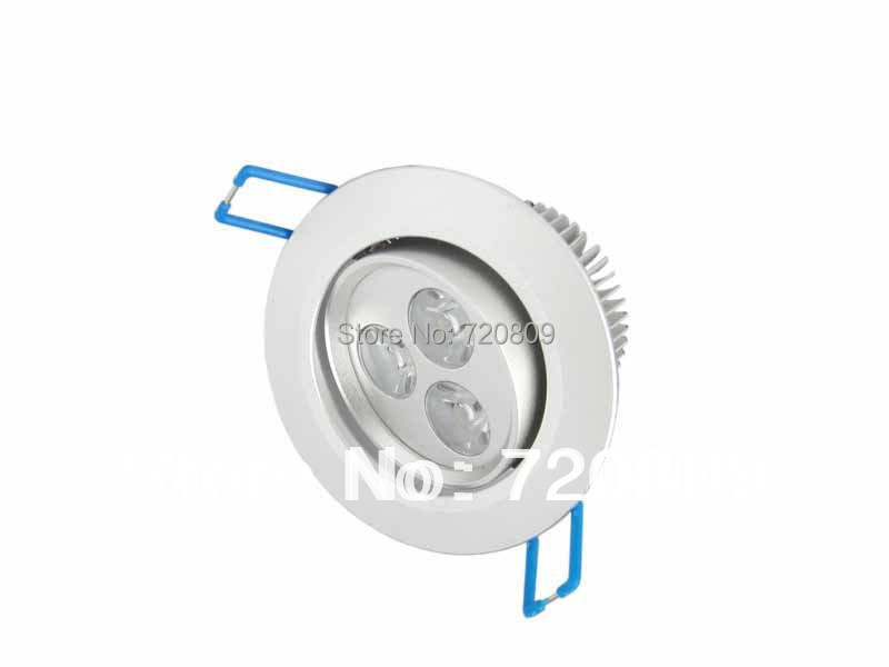 10pcs/lot Free Shipping 3x1W LED Ceiling Downlight 3w Spot Recessed LED Lamp Pure/Warm White 85-265v New(China (Mainland))