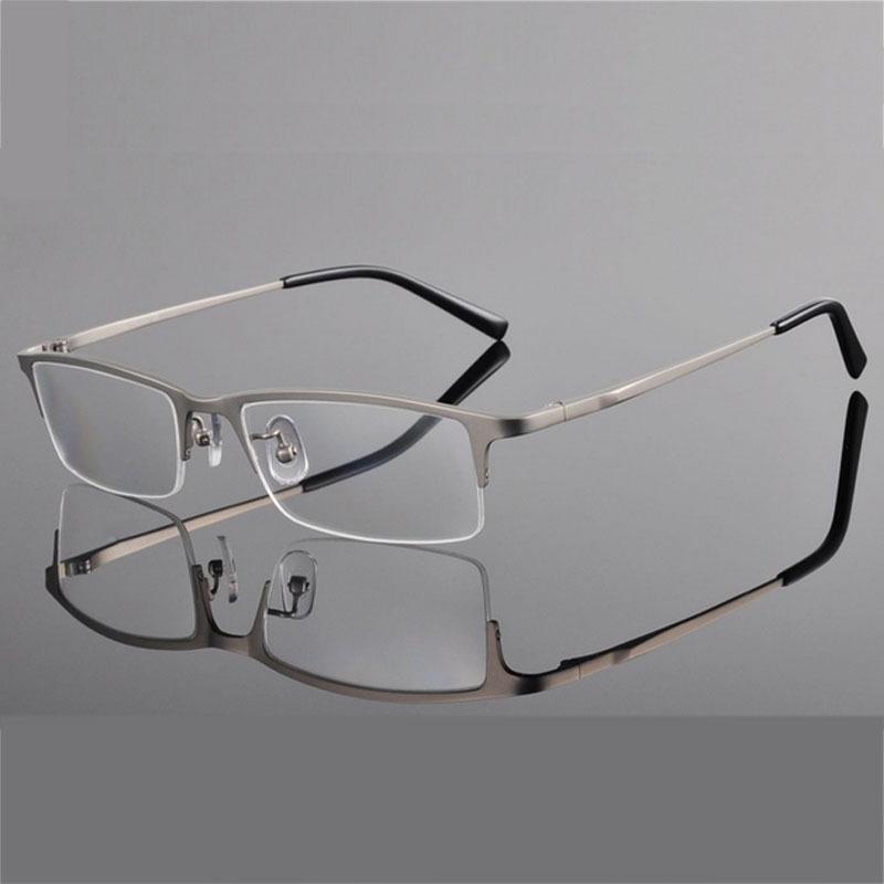Titanium Half Rim Eyeglass Frames : Titanium Eyeglass Ultar Light Weight Frames Optical Frame ...