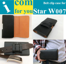 "Gift+Holster Belt Clip Leather case for Star W007(3.5"" MTK6575)Used in Mountain climbing Bicycle riding Outdoor activities(China (Mainland))"