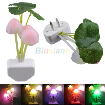 New Colorful Romantic LED Mushroom Dream Night Light Bed Lamp Free Shipping 005J