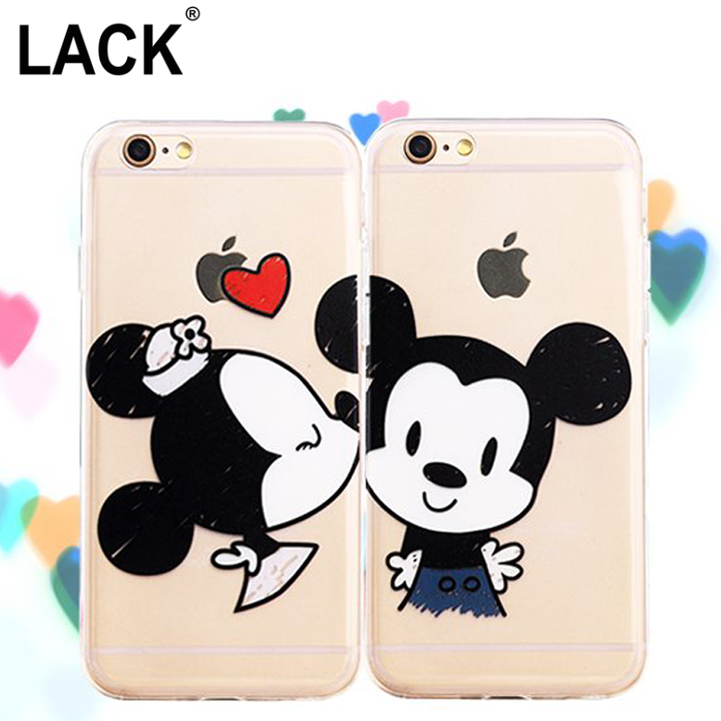 "New Minnie Mickey Mouse Cartoon couple kissing TPU Case Back Cover For iphone 5 5S 6 6S 4.7 6plus 6S Plus 5.5"" Cell phone Cases(China (Mainland))"