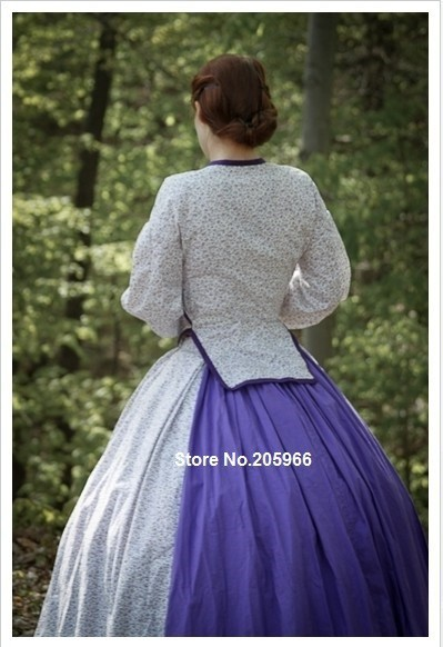 CUSTOM MADE 1860s Civil War Era Victorian day dress/ /Party Dress/Event Dress/Holiday dress