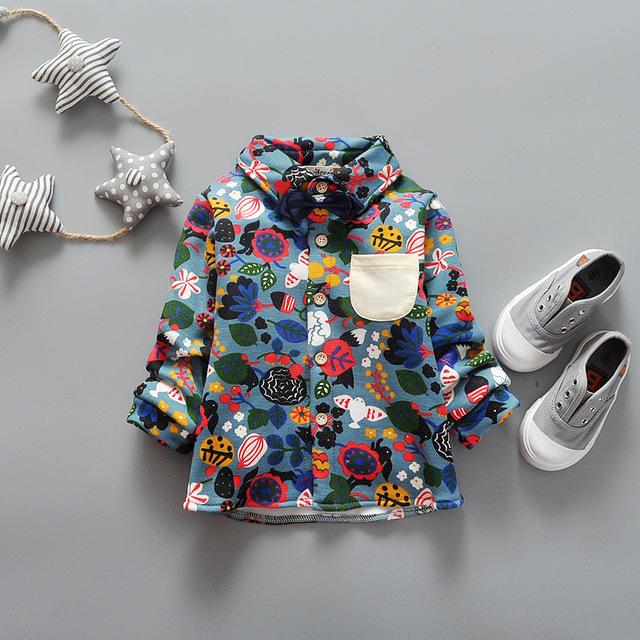 Зима Цветочный Дизайн С Bow Tie Мальчики Рубашки Утолщение Бархат Внутри Теплые Дети Рубашки Детской Одежды 2-5 Лет