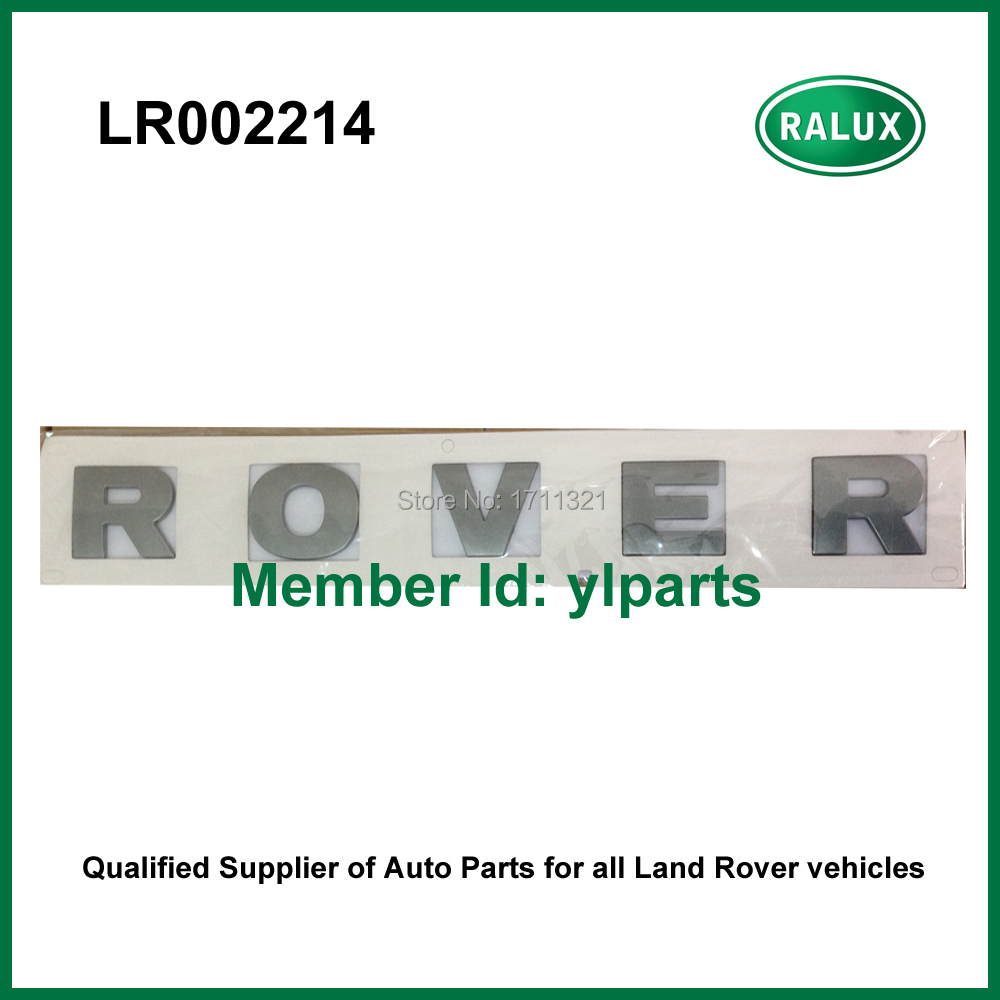 LR002214 Car front brand letter stickers silver ROVER for Freelander 2 high quality car front name plate Exterior Accessories(China (Mainland))