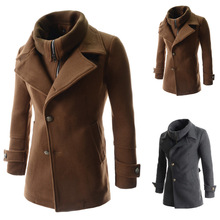Long Trench coat men,2015 Men's Fashion Korean/England style single Breasted Double collar Fit type jackets overcoat M-XXL 3957(China (Mainland))
