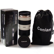 Camera Lens Coffee Mug 1:1 travel gift tea Cup set EF 70-200mm,f/4.0L the stainless steel inner container Coffee Cup wholesale