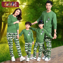 2016 new Korean children spring cotton suit camouflage family sportswear factory direct wholesale a generation
