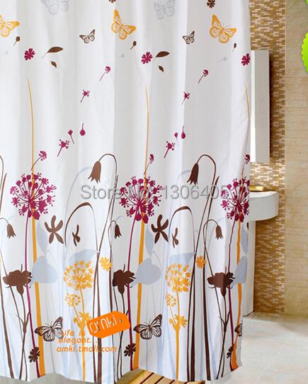 Cortinas De Baño Aliexpress:diseño baño ducha de poliéster impermeable cortina cortinas para