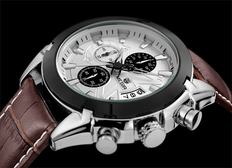 megir casual chronograph uhr luxus m nner marke quarz armbanduhr m nner military milit rischen. Black Bedroom Furniture Sets. Home Design Ideas